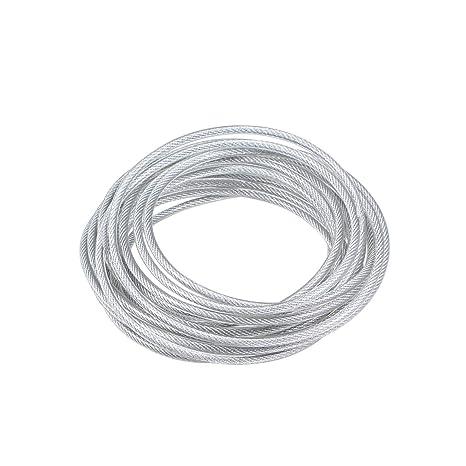 sourcing map Cable de cuerda de alambre de acero inoxidable ...