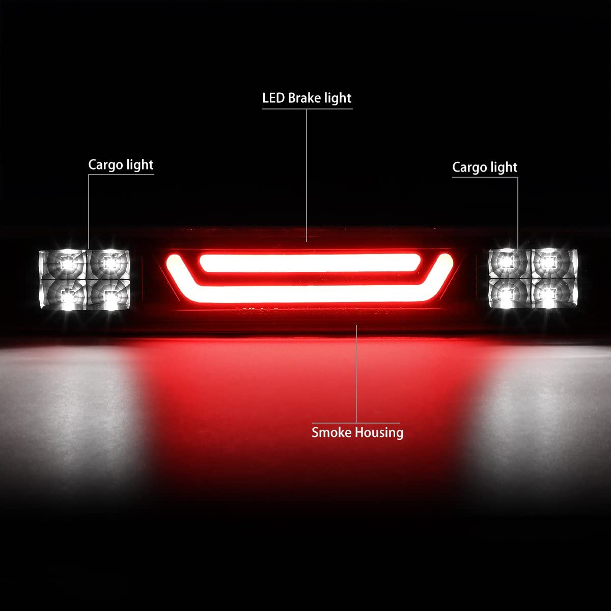 DNA Motoring 3BL-TTU07-LED-SM Third Brake Light