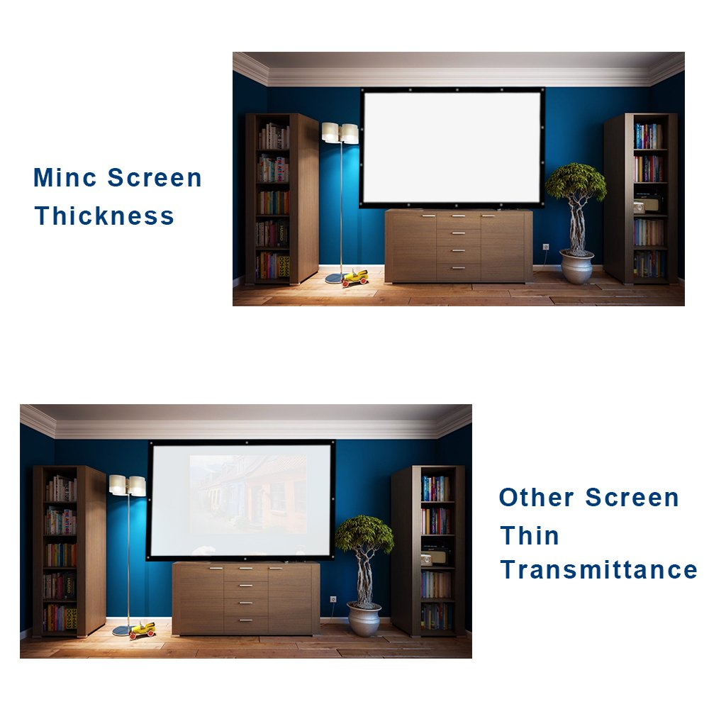Amazon.com: Projector Screen 120 Inch 16:9 - MINC Portable Movie ...