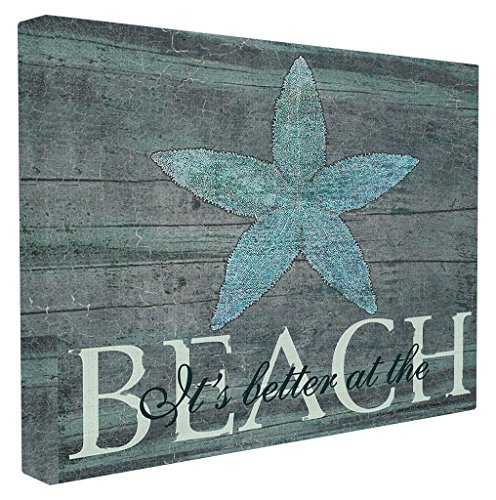 The Stupell Home Decor Collection It's Better at The Beach Starfish Wall Plaque Art 24 x 30