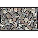 Masterpiece Flagstone Grey Stone Door Mat, 18-Inch by 30-Inch
