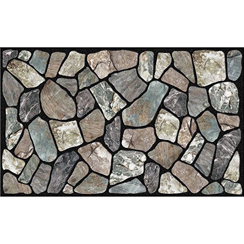Gray Welcome Mats - Masterpiece Flagstone Grey Stone Door Mat, 18-Inch by 30-Inch