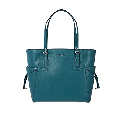e81b7fa5e39f Amazon.com: Michael Kors Voyager Crossgrain Leather Totecer Leather ...