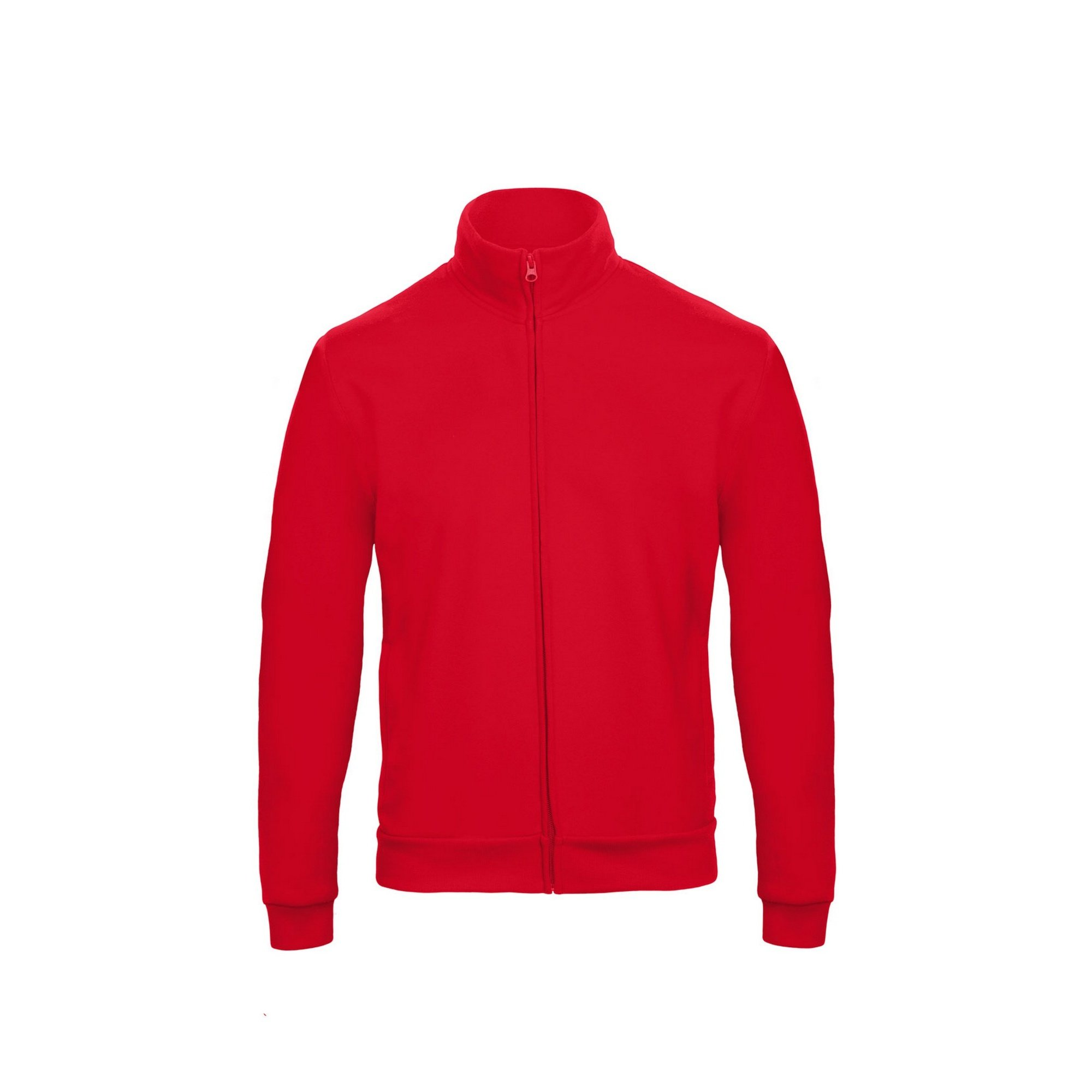 B&C Adults Unisex ID.206 50/50 Full Zip Sweat Jacket (M) (Red)