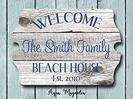 Amazon Com Custom House Sign Personalized House Sign Welcome