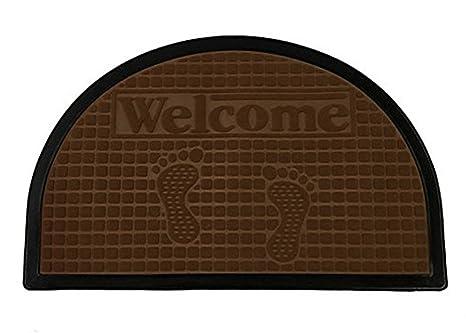 52601ce1192b Amazon.com : Half Round Door Mat Entrance Rug Floor Mats   Welcome ...