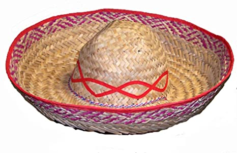 7564c196 Image Unavailable. Image not available for. Color: Straw Mexican Sombrero  Wide Rim Hat ...