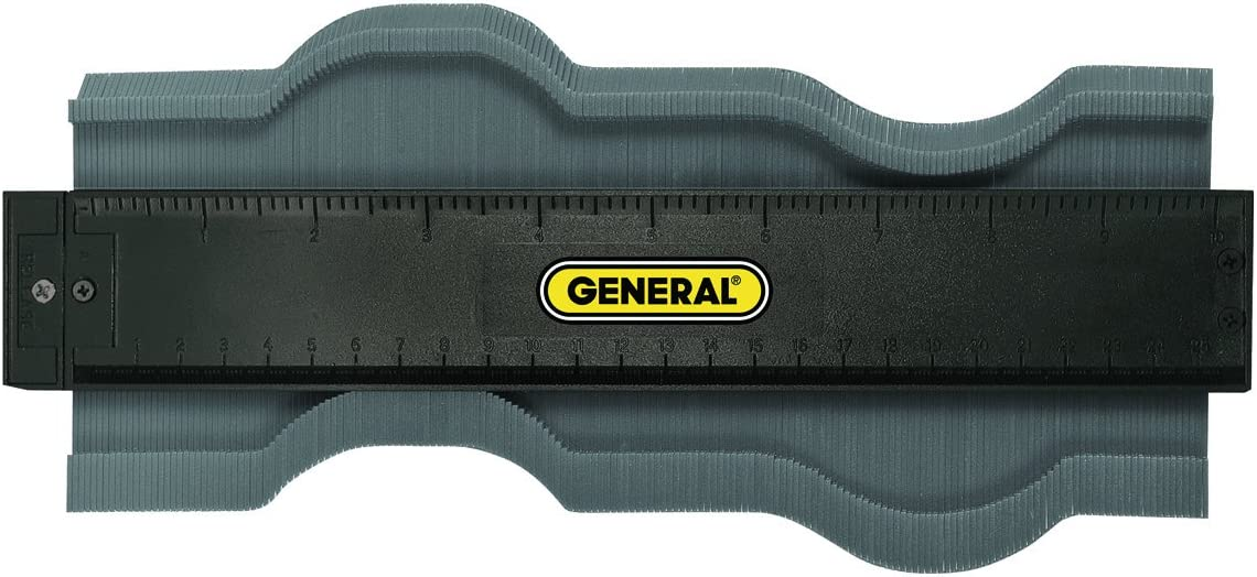 General Tools 833 Plastic Contour Gauge, Profile Gauge, Shape Duplicator, 10-Inch (254mm), Precisely Copy Irregular Shapes For Perfect Fit and Easy Cutting - Profile Gauge -