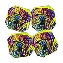 DENY Designs Dean Russo Hey Bulldog Coasters, Set of 4