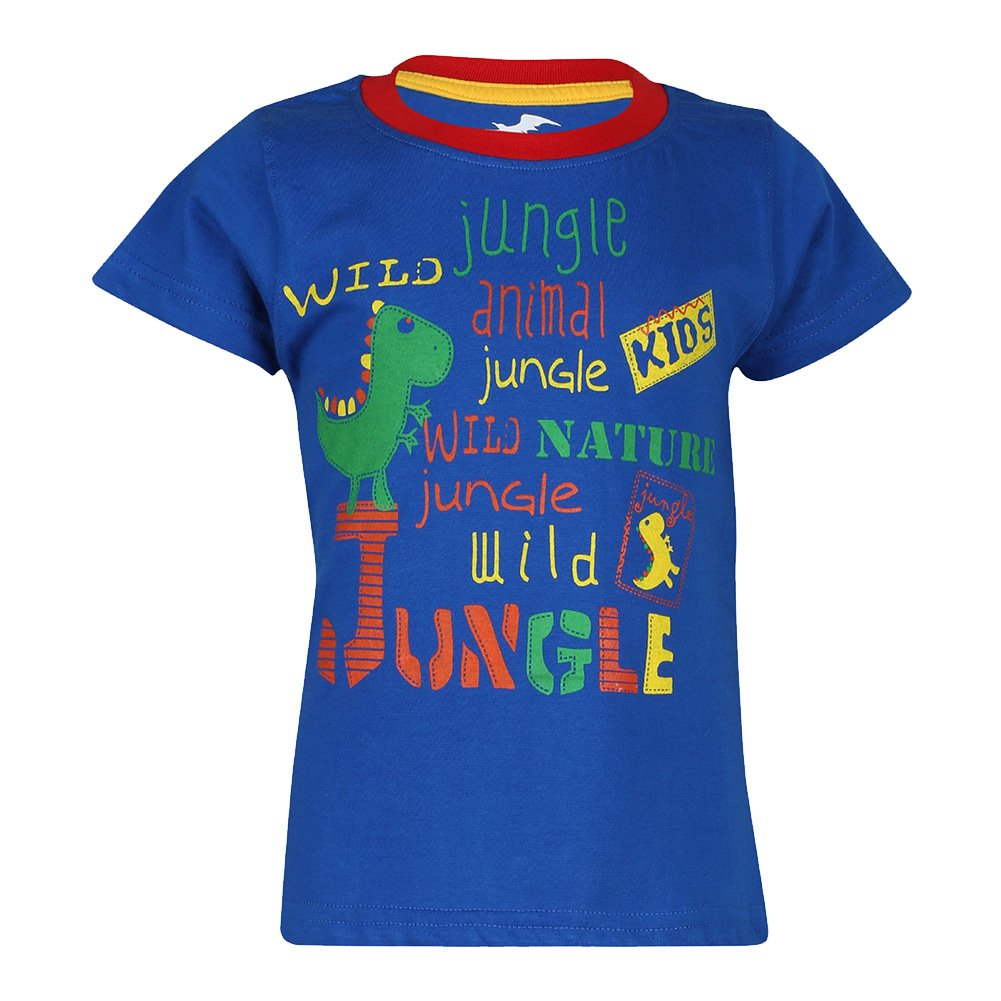 Antshrike Boys Printed Round Neck Cotton Half Sleeve T-Shirt.