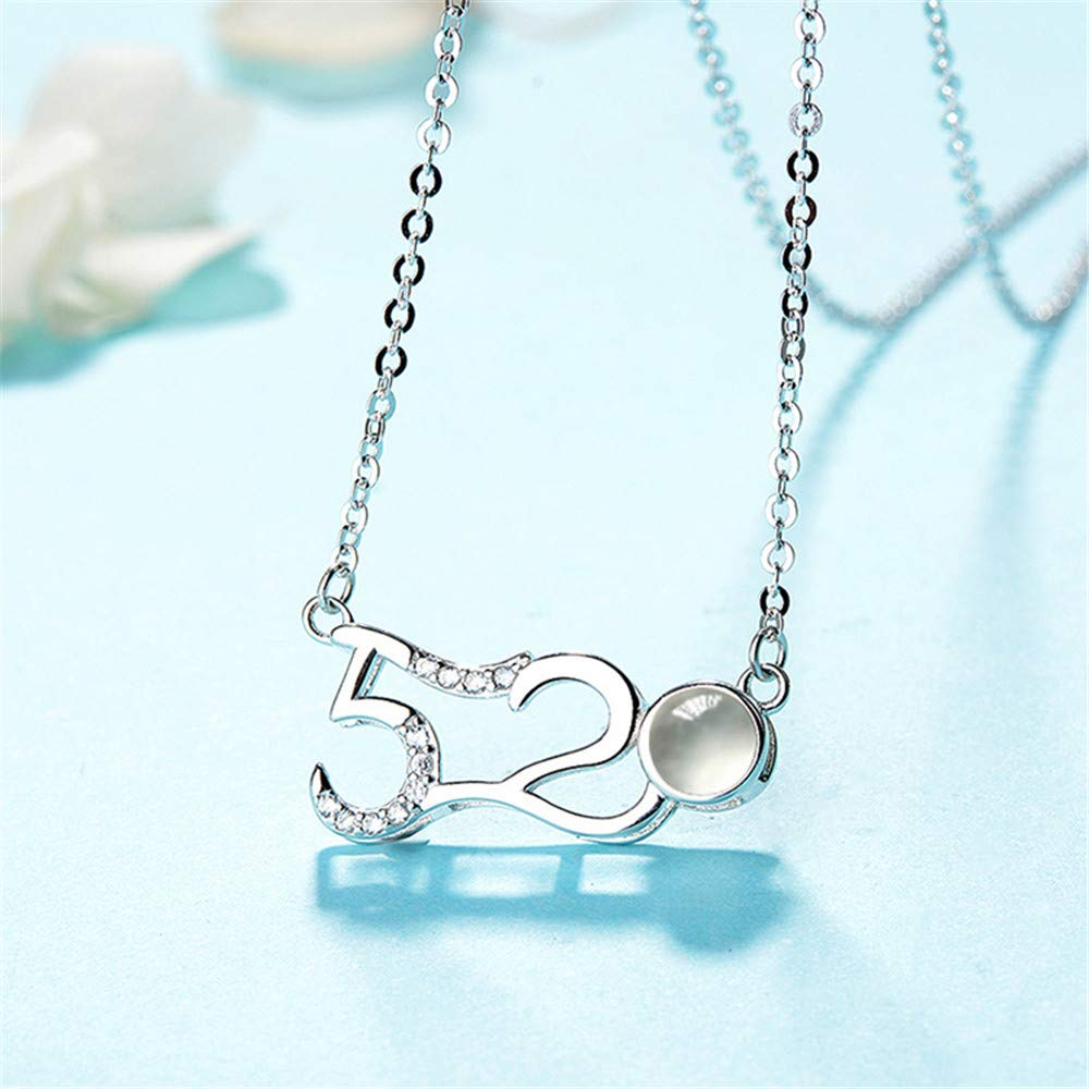 100 Languages Projection on Round Onyx Pendant Love Brilliant sun Personalized Photo 520 I Love You Necklace