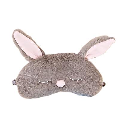 JasmineLi Kawaii - Máscara para dormir con diseño de conejo, ideal para dormir, dormir