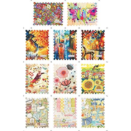 Water Stickers 11 designs/sheet DIY Beauty Nail Art Decorations Tools#2