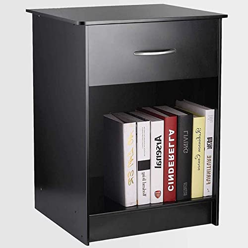 TUSY Black Nightstand