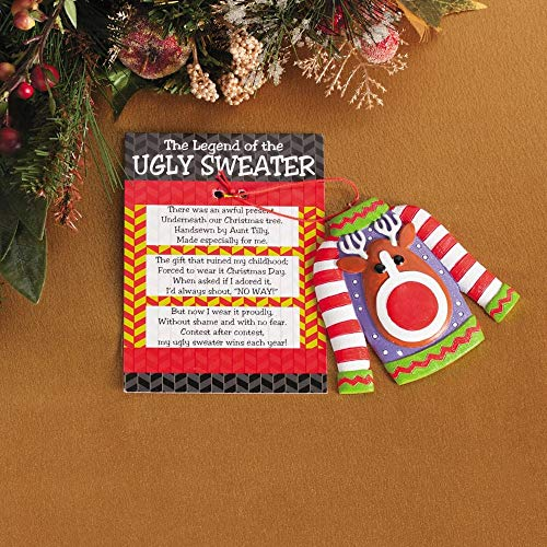 Ugly Christmas Sweater Ornaments (The Legend of the Ugly Sweater Ornaments -12)