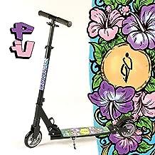 VTT modèle fully xXL bigWheel hepros trottinette-roues 145 mm-noir-cityroller flower