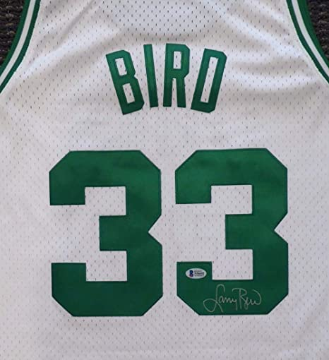 new concept ea845 eabee Boston Celtics Larry Bird Autographed White Mitchell & Ness ...