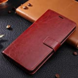OPPO R5 case, solid color pattern wallet style case magnetic design flip folio PU Leather cover standup cover case for OPPO R5 ( Color : Brown-OPPO R5 )