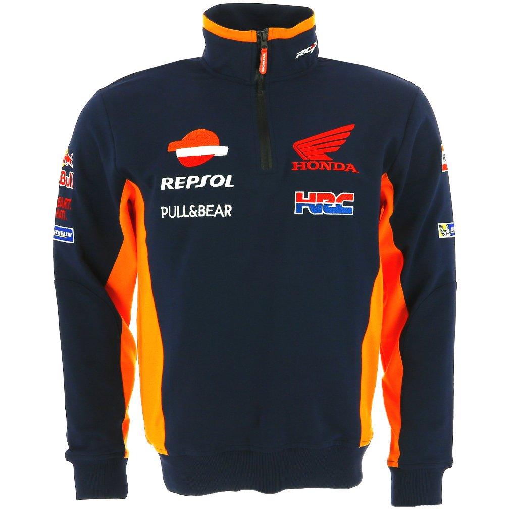 Honda Pritelli Repsol MotoGP Teamwear Sweatshirt, ré plique Officielle 2018 - Bleu - Taille L réplique Officielle 2018 - Bleu - Taille L 1828501/XL