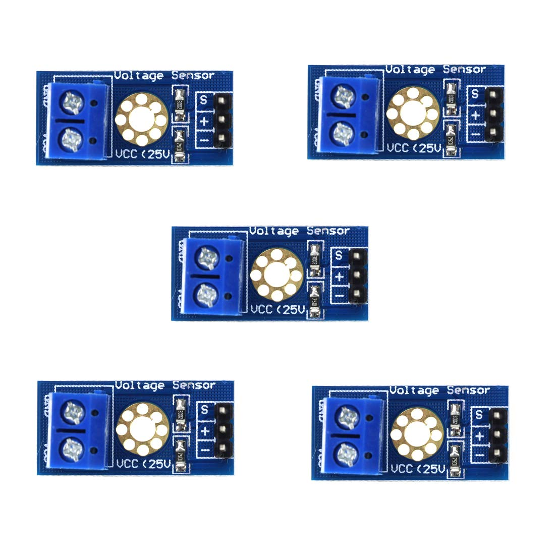 5x DC0-25V input Voltage Sensor Module Tester Board Electronic Bricks