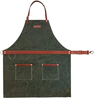 product image for Rugged Apron - Waxed Canvas - Olive - Made in USA