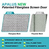 """Apalus 2018 New Fiberglass Magnetic Screen Door, 36""""x83"""", Super Strong Fly Mesh, 28 Magnets From Top to Bottom Ultra Seal Magnets Close Automatically"""