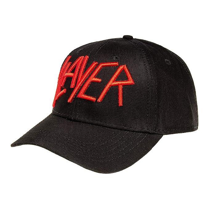 Slayer Gorra Beisbolera Oficial Con Logo Bordado - Negro: Amazon ...