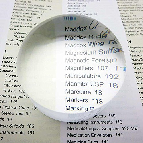 MagniPros 5X Magnifying Glass Dome Crystal Clear Easy to Glide Paperweight 2''in Dia. Dome Magnifier with Polishing Pouch-Perfect Reading Aid for Blueprints, Maps, Newspapers by MagniPros See Things Differently
