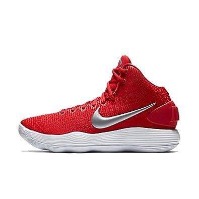 Nike Hyperdunk 2017 White/Metallic Silver/Team Red - Nike Basketball Shoes 100% Quality Guarantee -