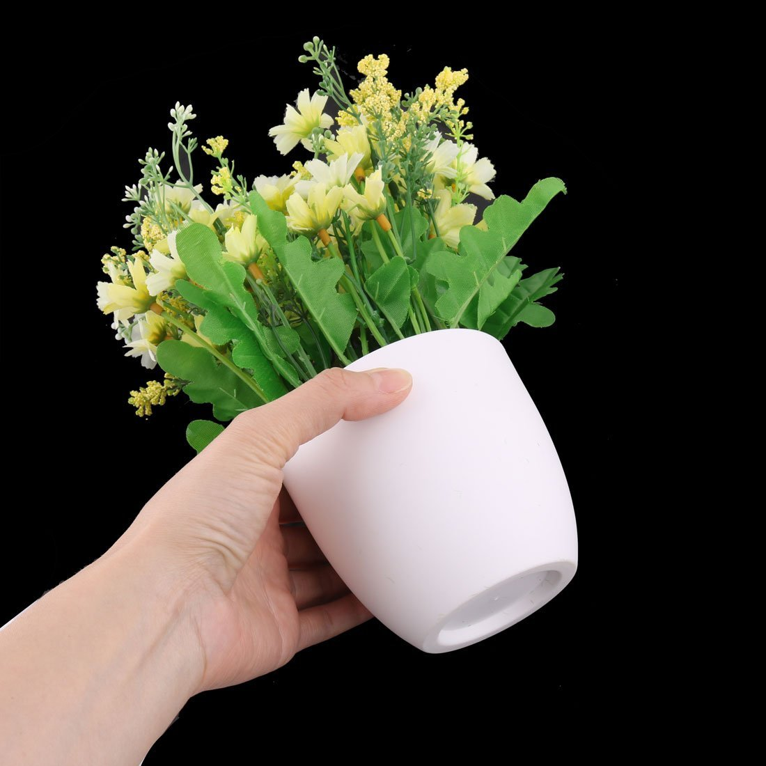 Amazon.com: eDealMax plástico del Ministerio del Interior Daisy maceta Artificial artesanía Flor de escritorio de la decoración de la Tabla: Home & Kitchen