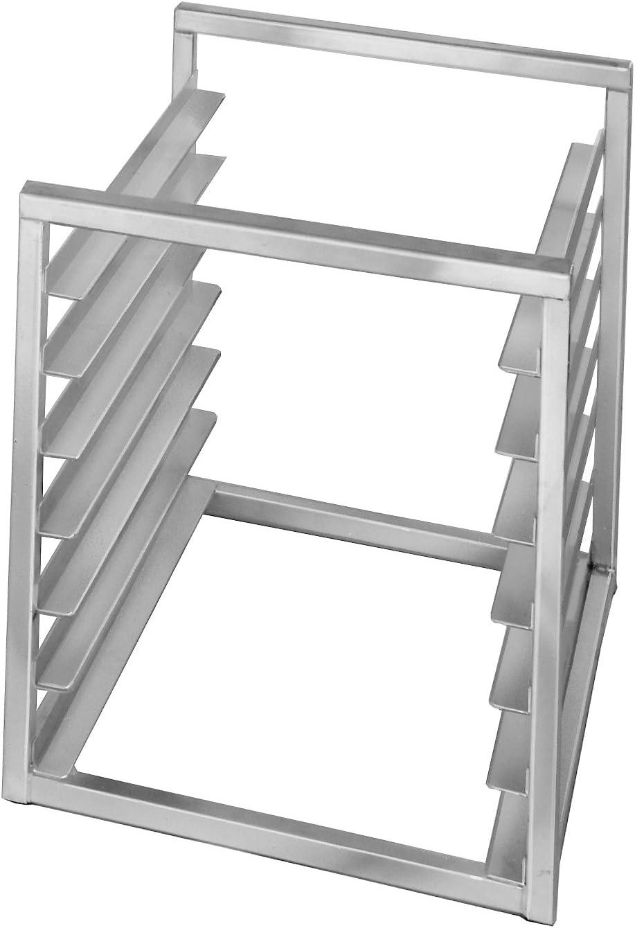 Channel Manufacturing RIR-7 7 Pan Aluminum End Load 20 1//2 x 23 x 23 Sheet Bun Pan Rack for Reach-Ins Assembled