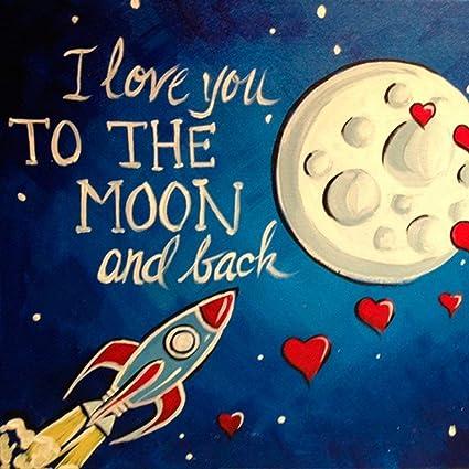 Amazon Com Ming Dao Popular Funny Rocket Art Night Sky Art And I