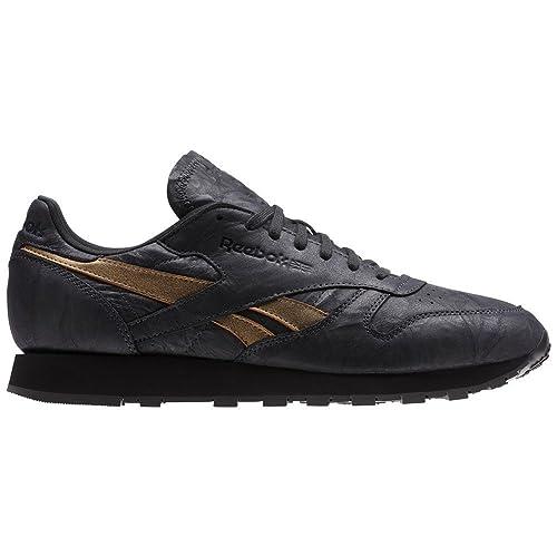 Reebok Shoes - Cl Leather Tu charcoal gold black size  40.5  Amazon ... 33f2c06c0