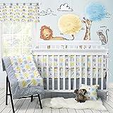 Brandream Crib Bedding Sets with Bumper Elephant Baby Nursery Bedding Sets for Boys Girls Grey Cream Chevron Print Crib Set 100% Cotton, 9 pieces