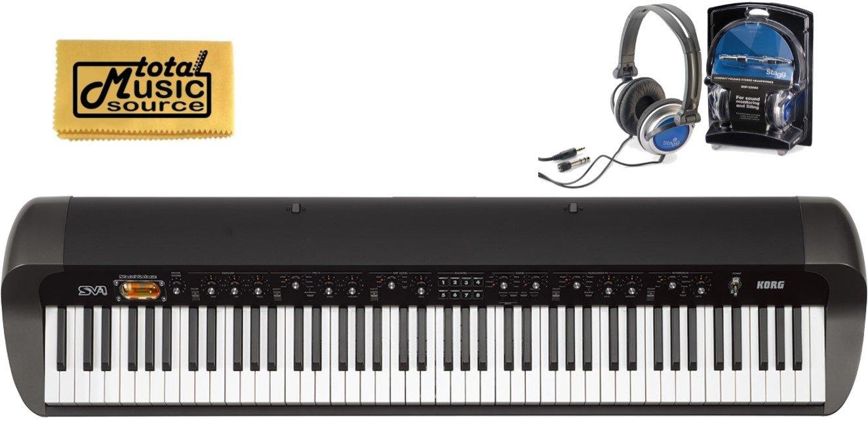 KORG SV188BK 88-Key Digital Piano with Vintage Sounds, FREE