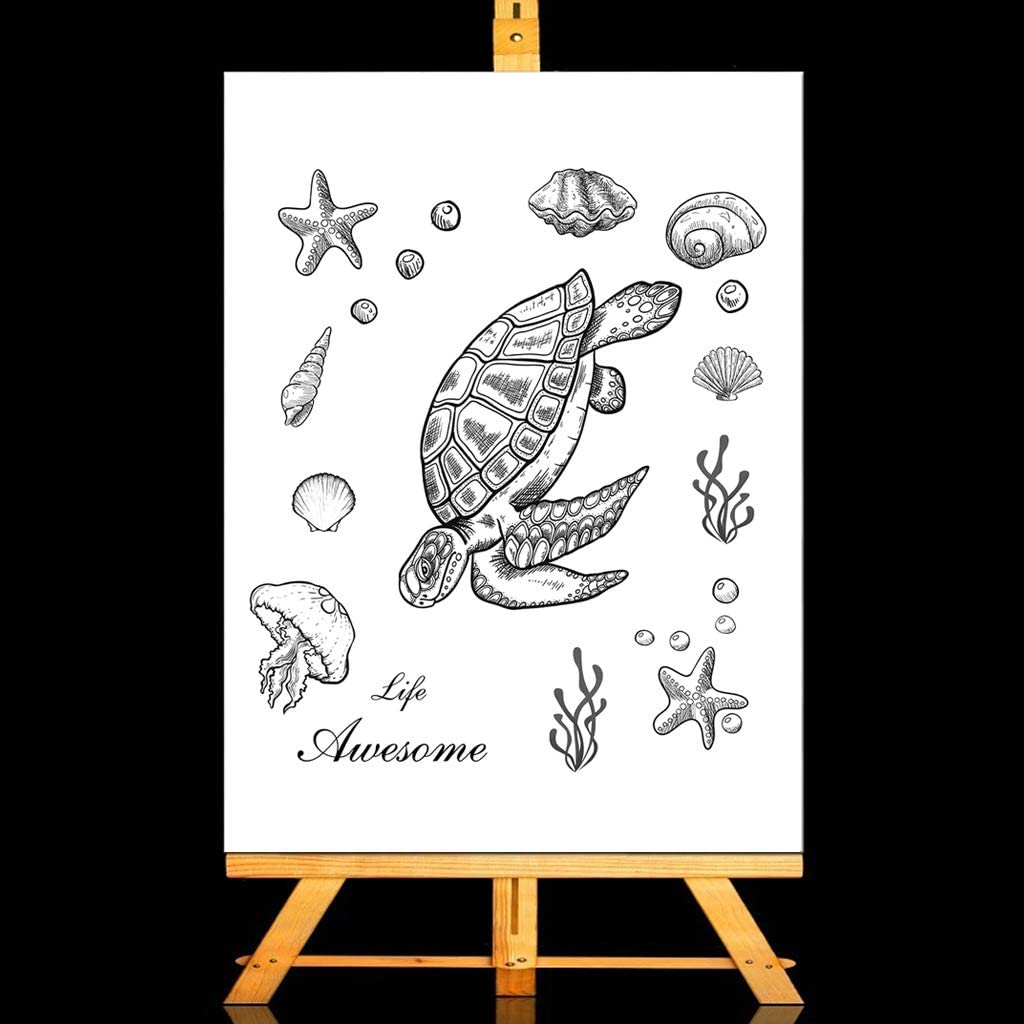 chuwa Clear Stamps for Cards Making Sea Turtle Transparent Stamps DIY Cling Seal Scrapbook Embossing Photo Album Decor Craft
