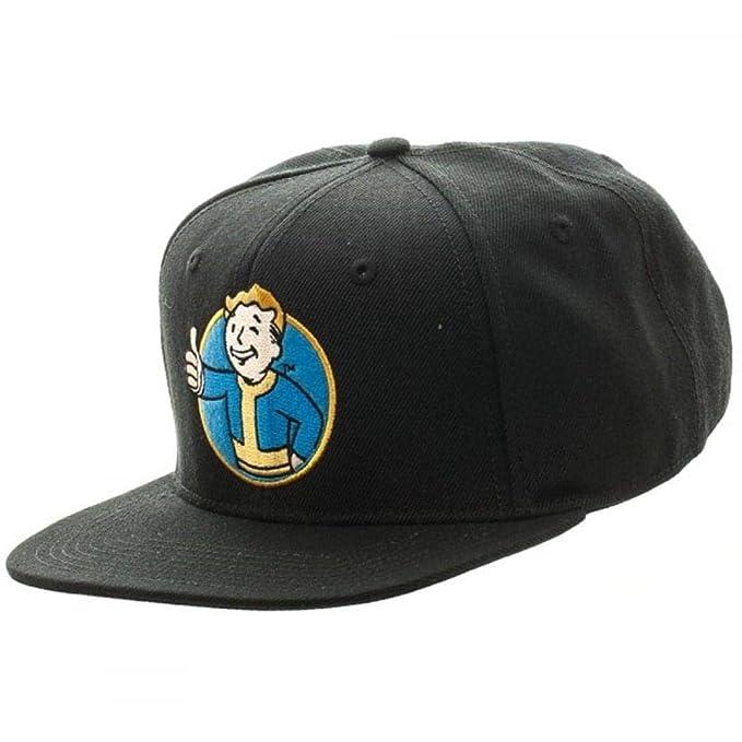 Amazon.com  Bioworld Fallout Vault Boy Thumbs Up Snapback Hat ... fb4846c0a9d2