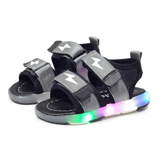 Kinder Sport Sandalen Kleinkind leuchtenden Sandalen Kinder LED leuchten Schuhe Sommer Jungen & Mädchen Baby Touch Befestigung Flache Turnschuhe Kind