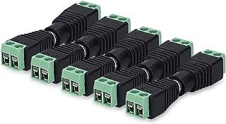 kwmobile 2X Adaptateur Jack 3.5 mm - Terminal Block avec raccord fileté 3 Broches - Connecteur Audio stéréo - Prise mâle et Femelle Fixation vis