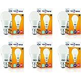 Wipro Garnet Base B22 9-Watt LED Bulb (Pack of 6, Cool Day Light)