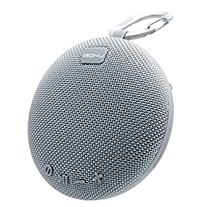 iGOKU Portable Bluetooth Speaker, Wireless Speaker with Built-in Mic for Hands-Free Call, Outdoor Waterproof Speaker with Micro SD Card Slot for Sports, Shower, Pool, Beach (Gray)