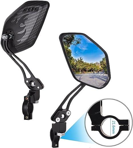 Dewel 2 Pces Espejo Retrovisor Bicicleta Ajustable 360° Rotación ...