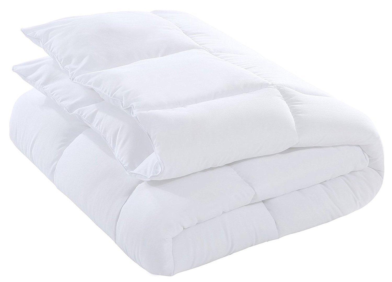 D & G THE DUCK AND GOOSE CO Down Alternative Comforter Duvet Plush Microfiber Fill Duvet Insert, Lightweight for All Season, Premium Hotel Quality - Machine Washable - Twin