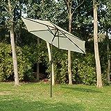 Outsunny Outdoor Aluminum Patio Market Umbrella with Tilt, 9-Feet, Cream Review