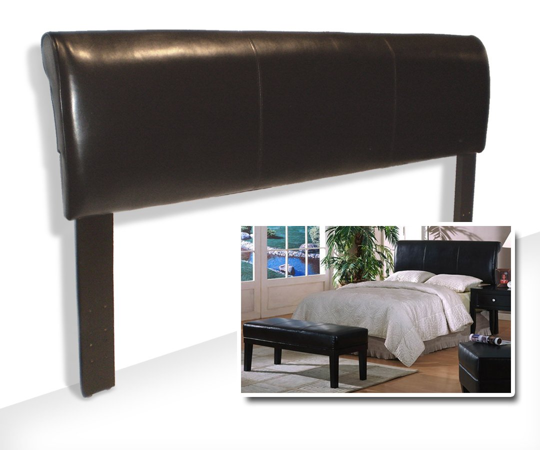 Espresso Brown Bicast Adjustable Full and Queen Size Headboard