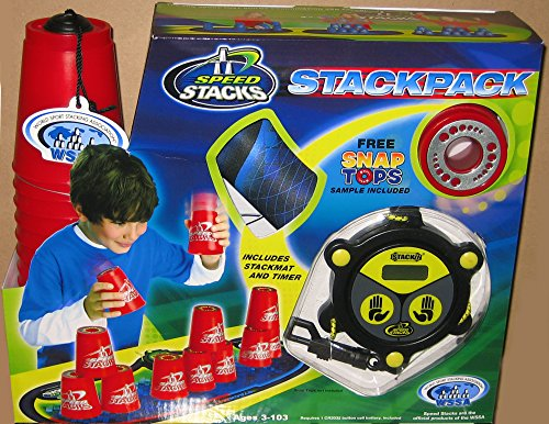 Speedstack RED Plastic Metallic Stackpack Stacking Competition Cups with Mat and Timer by Speed Stacks by Speed Stacks