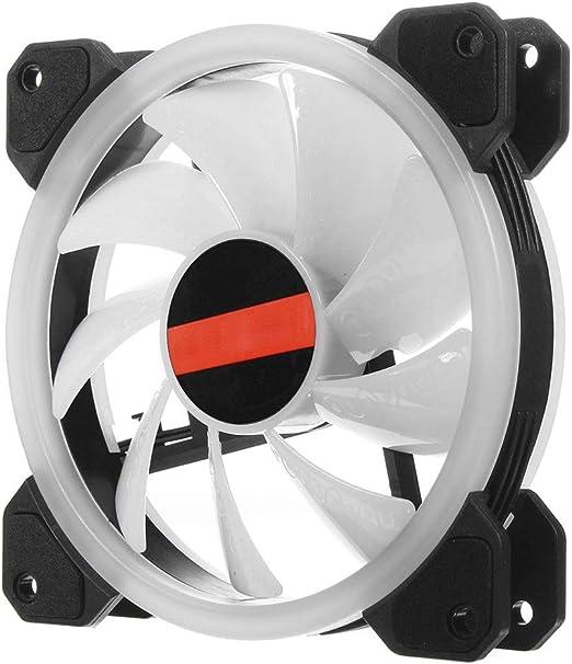 BU-SOH Ventilador de la computadora 6PCS 120 mm Caso RGB LED de ...