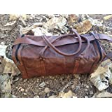 "TGL- 24 Inch ""The Traveler"" Mens Leather Travel Overnight Gym Duffel Bag"