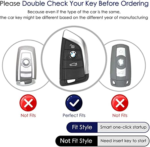 TG Auto Smart Car Keycove Skin Keyless Key Fob Case Holder Protector with Keychain Preventing Falls and Scratch TPU Key Shell Fit for BMW X1 X2 X3 X5 X6 2 Series 5 Series 6 Series 7 Series Pink
