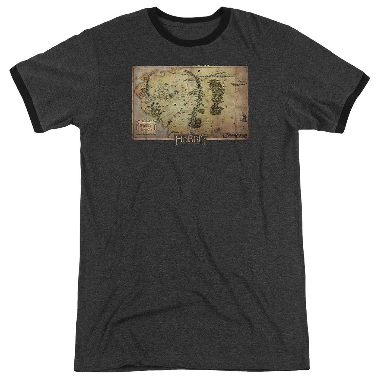 The Hobbit Men's Middle Earth Map Ringer T-Shirt